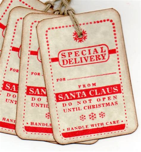vintage christmas gift tags special delivery from santa