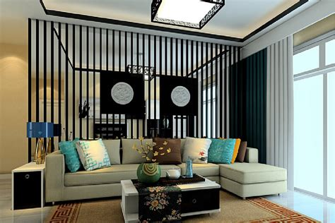 cozy modern living room with traditional style black fence