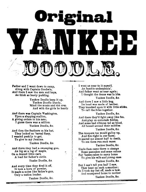 yankee doodle yankee doodle lyrics www pixshark images galleries