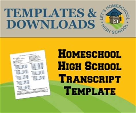 download high school transcript template