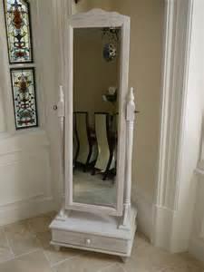 full length white shabby chic cheval mirror dressing