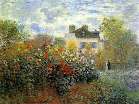 Monet In The Garden by The Garden Of Monet At Argenteuil Claude Monet Wikiart