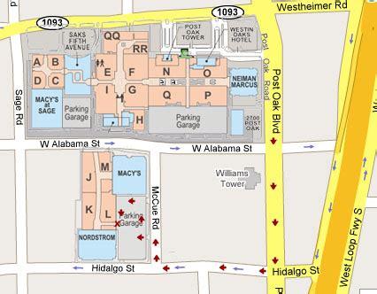 galleria mall map galleria mall houston map