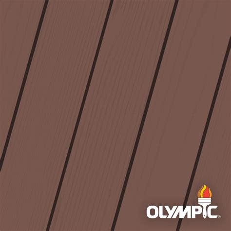 olympic maximum  gal russet solid color exterior stain