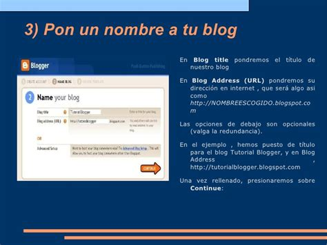tutorial sobre blogger tutorial sobre la creaci 243 n de un blog