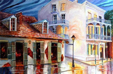 lafitte s guest house on bourbon painting by diane millsap