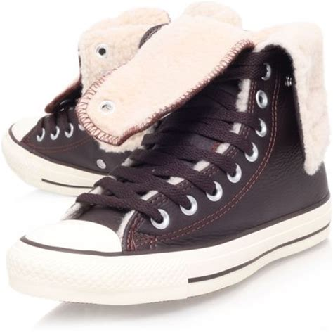 thigh high converse lace up sneakers converse ct knee lace up sneaker in brown lyst
