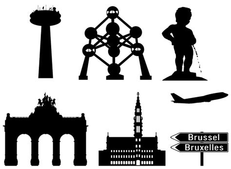 brussels in silhouettes vector download free vector art