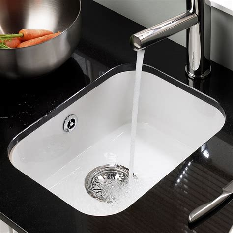 Ceramic Undermount Kitchen Sinks Astracast Lincoln 3040 Undermount Ceramic Kitchen Sink Sinks Taps