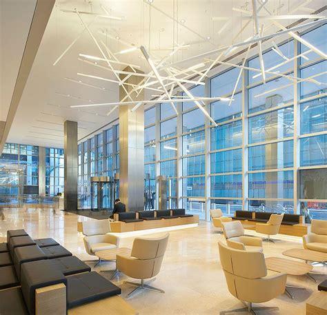 contemporary interior design lighting for kpmg s building