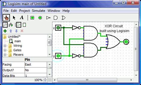 membuat jam digital dengan gerbang logika logisim software edukasi design simulasi logika sirkuit