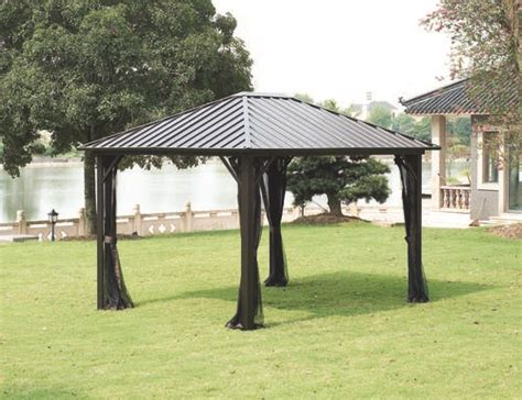 Backyard Creations Steel Roof Gazebo Backyard Creations Steel Roof Gazebo 28 Images