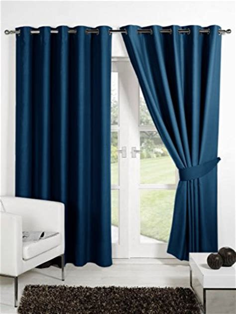 curtains 46 inches long homec elegant blackout multi eyelet long door curtain set