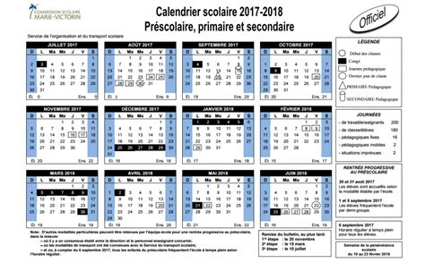 Calendrier Scolaire 2017 Cspo Calendrier Scolaire 2017 2018 Commission Scolaire