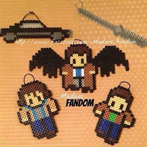 supernatural perler pin by lanni on pixelated arts