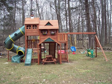 rainbow swing set stain michigan redwood play set restoration play system sealing
