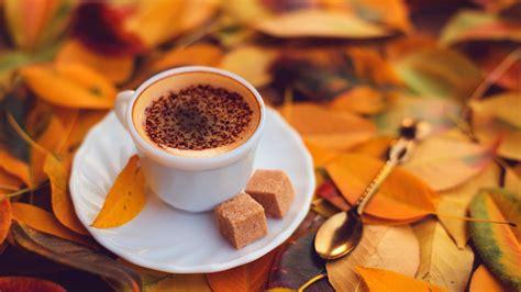 delicious coffee  brown sugar autumn day wallpaper