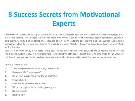how to get success in