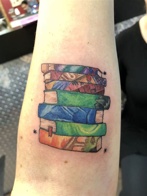 tattoo books harry potter book spines tattoos i