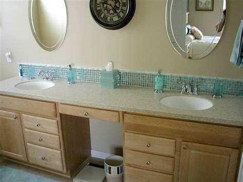 bathroom vanity backsplash ideas mosaic vanity backsplash fail bathroom3 pinterest