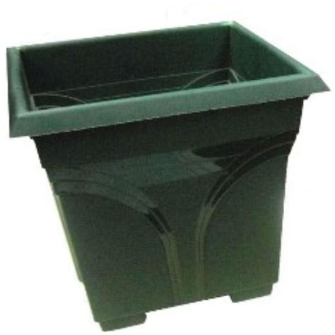 ames 18 in dia square evergreen plastic deck planter 2704