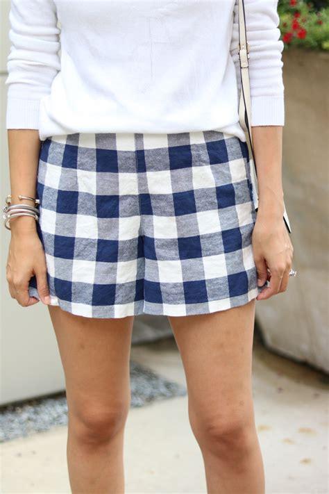 Gingham Shorts gingham shorts stylethegirl