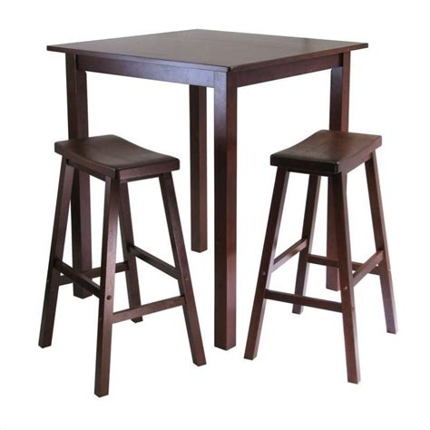 Square Bistro Table And Chairs Winsome Parkland 3pc Bar Height Square Table Pub Set Ebay