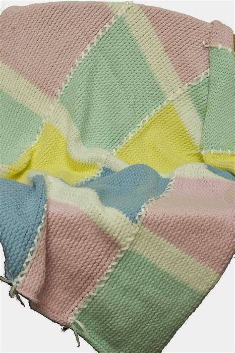 Squares Baby Blanket by The Knifty Knitter Baby Squares Baby Blanket