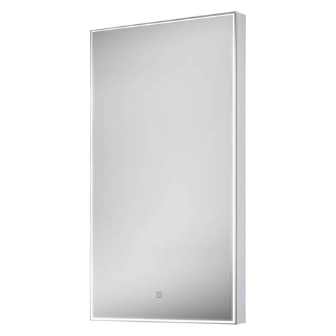 Led Bathroom Mirrors With Demister Euroshowers Led Rectangular Bathroom Mirror With Demister 400 X 800mm