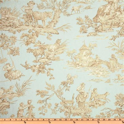 toile upholstery fabric covington musee toile serenity blue discount designer