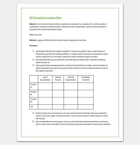 lesson plan template word doc lesson plan outline template 23 exles formats and