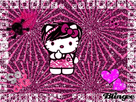 wallpaper hello kitty punk punk not emo hello kitty picture 94760410 blingee com