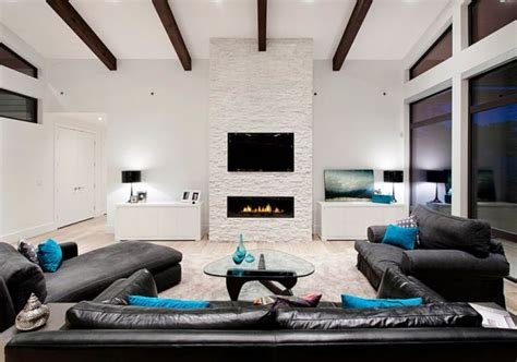 how to use bold accent colours frances hunt - Turquoise And Black Living Room