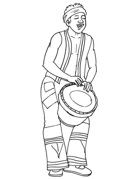 african instruments coloring page african musician playing drum coloring page coloring