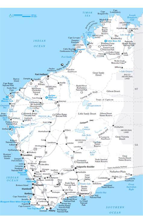 map western australia south west australia map