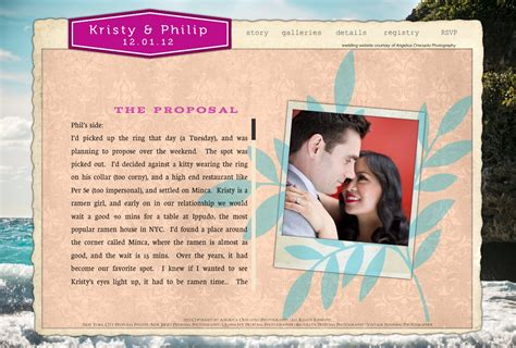 Couples Website Your Engagement Story Details And D 233 Cor Weddingwire