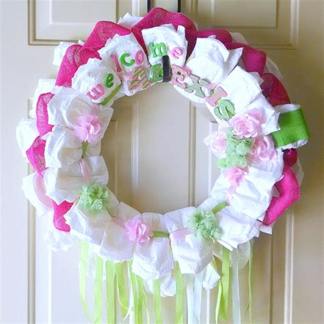 Baby Boy Decorations How To Make A Diaper Wreath With Instructions 30 Ways