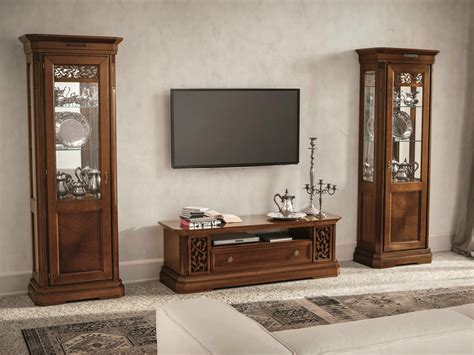 pareti porta tv parete attrezzata componibile in noce con porta tv