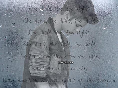 She Don T Like The Lights by Justin Bieber Window She Don T Like The Lights By Abbeydenith On Deviantart