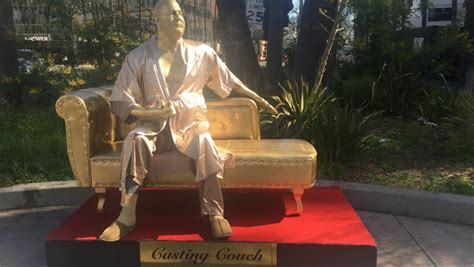 casting couch in hollywood casting couch statue debuts in hollywood
