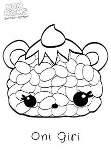 nom noms free coloring pages