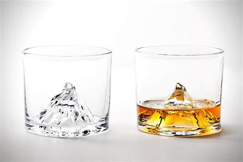 cool glassware matterhorn whiskey glasses by tale design design is this