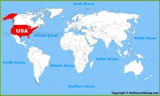 america world map usa united states location on the world map