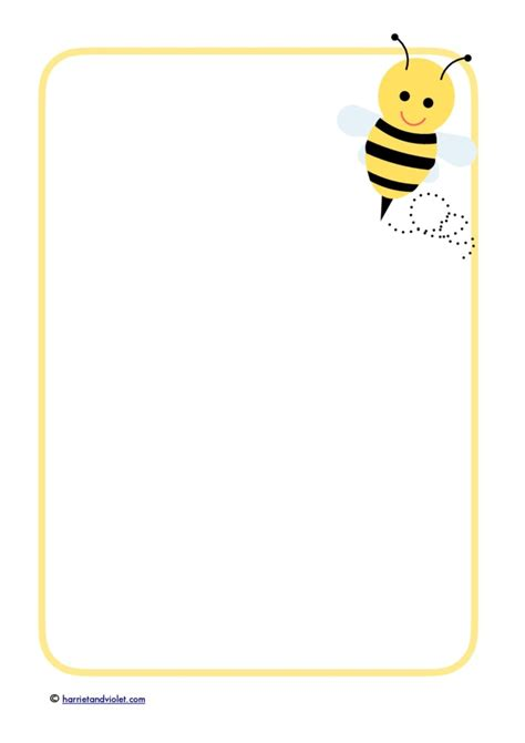 lined paper with plain border bee buzz a4 selection of border paper free teaching