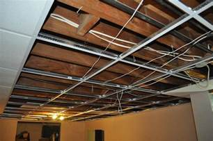 drop ceiling installation in kirkwood basement