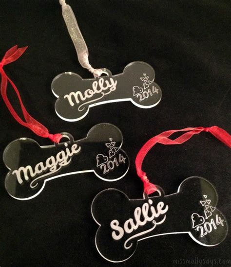 personalized bone ornaments personalized bone ornament from marked moments miss