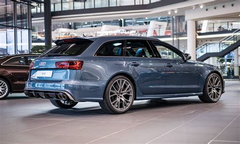 Blue Audi Rs6 by Polar Blue Metallic Audi Rs6 Performance By Audi Exclusive