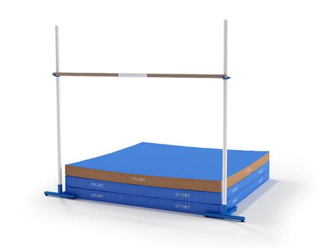 Used High Jump Mats by High Jump Stand And Landing Mat 3d Model 3dsmax Files Free