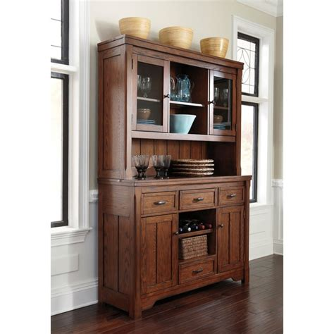dining room buffet with hutch signature designs by ashley chimerin medium brown dining