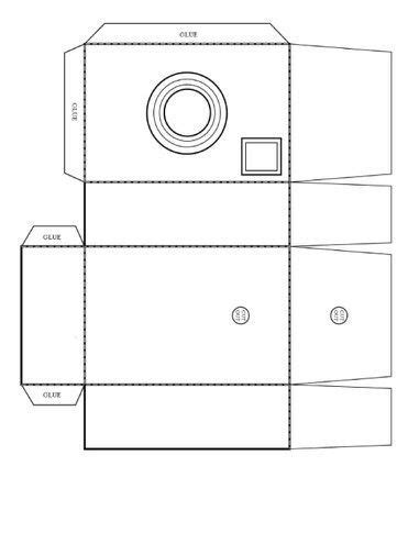 Paper Folding Box Template - box templates cameras and templates on